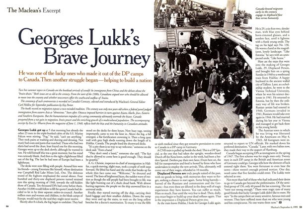 Article Preview: Georges Lukk's Brave Journey, September 1999 | Maclean's