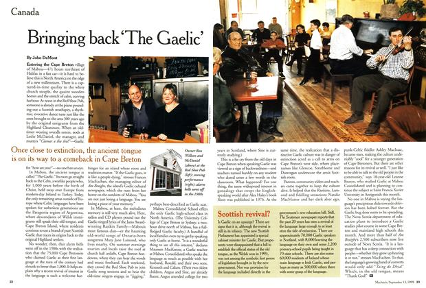 Article Preview: Bringing back'The Gaelic', September 1999 | Maclean's