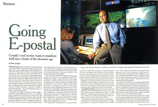 Article Preview: Going E-postal, September 1999 | Maclean's