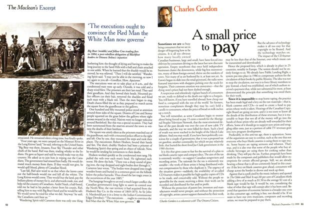 Article Preview: A small price to pay, September 1999 | Maclean's