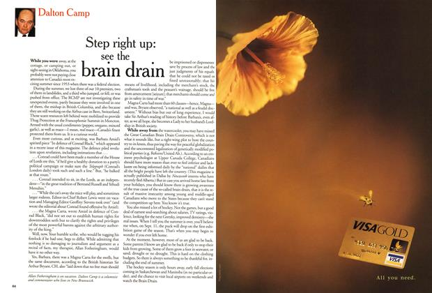 Article Preview: Step right up: see the brain drain, September 1999 | Maclean's