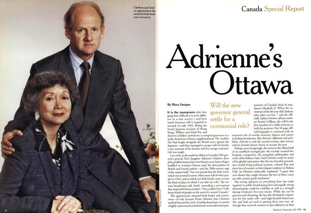 Article Preview: Adrienne's Ottawa, September 1999 | Maclean's