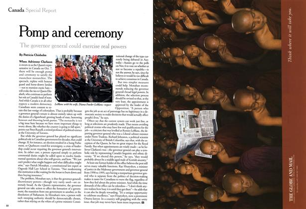 Article Preview: Pomp and ceremony, September 1999 | Maclean's