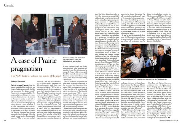 Article Preview: A case of Prairie pragmatism, September 1999 | Maclean's
