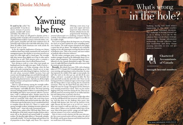 Article Preview: Yawning to be free, September 1999 | Maclean's