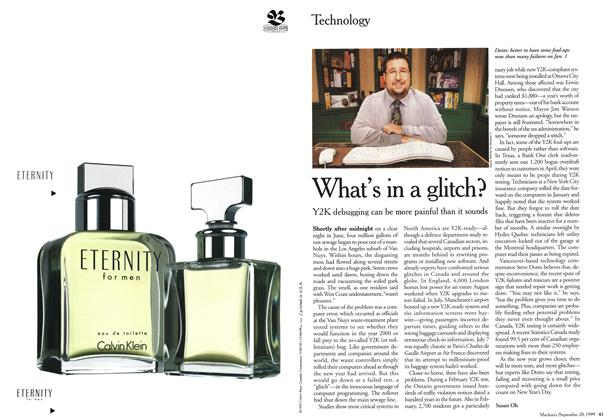 Article Preview: What's in a glitch?, September 1999 | Maclean's