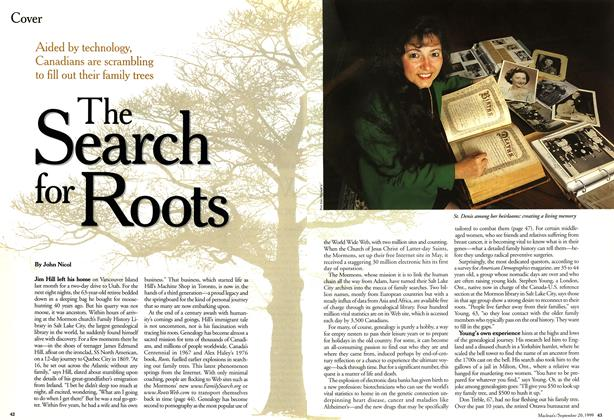 Article Preview: The Search for Roots, September 1999 | Maclean's