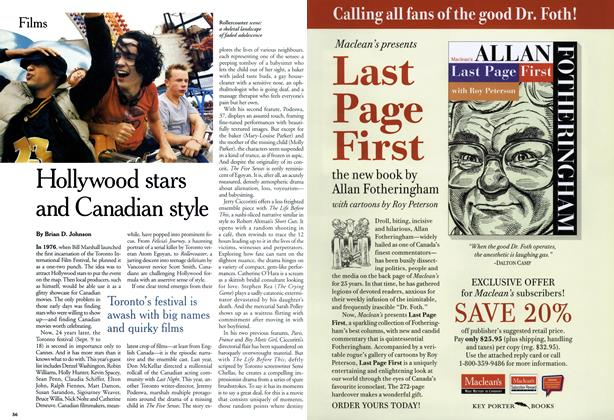 Article Preview: Hollywood stars and Canadian style, September 1999   Maclean's