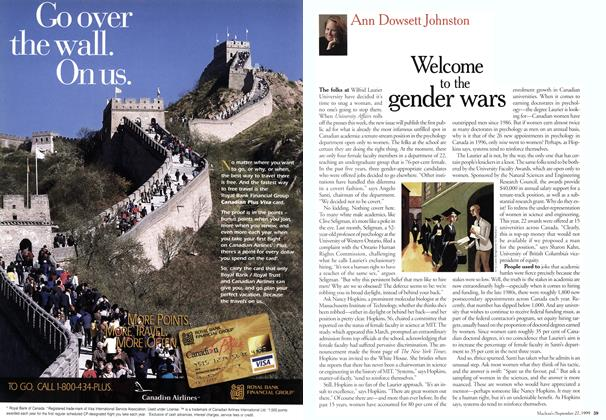 Article Preview: Welcome to the gender wars, September 1999 | Maclean's