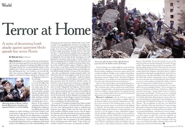 Article Preview: Terror at Home, September 1999 | Maclean's