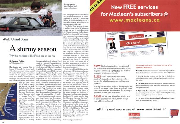 Article Preview: A stormy season, September 1999 | Maclean's
