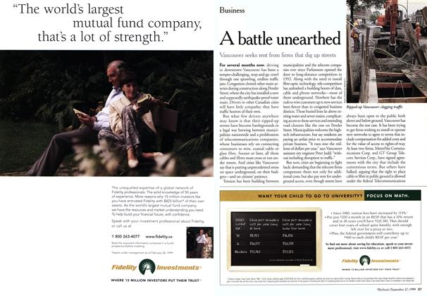 Article Preview: A battle unearthed, September 1999 | Maclean's