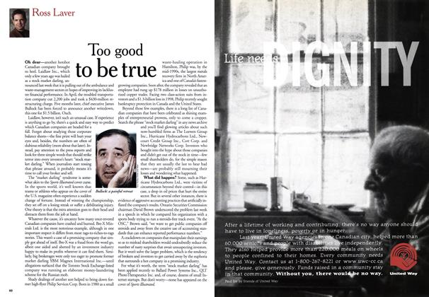 Article Preview: Too good to be true, September 1999 | Maclean's