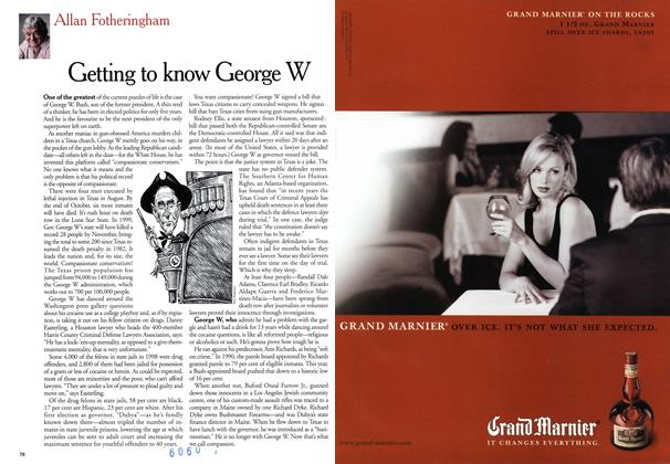 Article Preview: Getting to know George W, September 1999   Maclean's