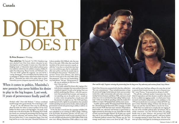 Article Preview: DOER DOES IT, October 1999 | Maclean's