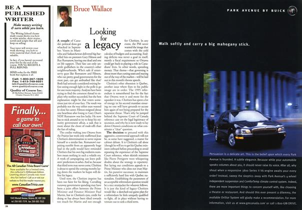 Article Preview: Looking for a legacy, October 1999 | Maclean's