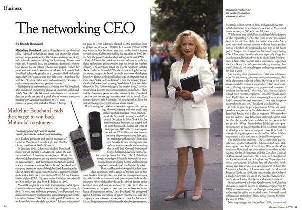 Article Preview: The networking CEO, October 1999 | Maclean's