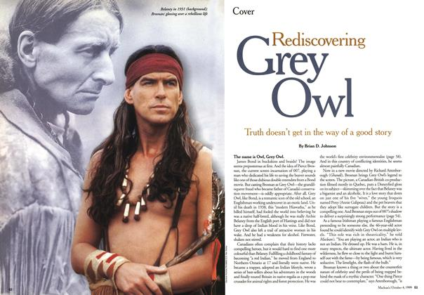 Article Preview: Rediscovering Grey Owl, October 1999 | Maclean's