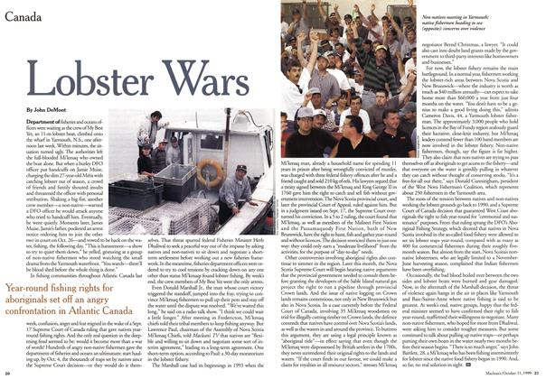 Article Preview: Lobster Wars, October 1999 | Maclean's
