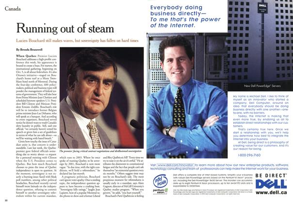 Article Preview: Running out of steam, October 1999 | Maclean's