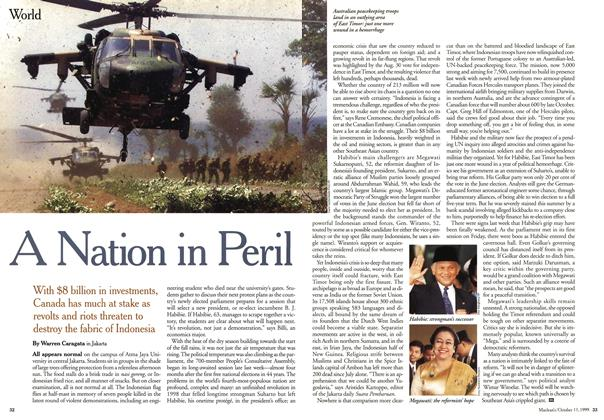Article Preview: A Nation in Peril, October 1999 | Maclean's
