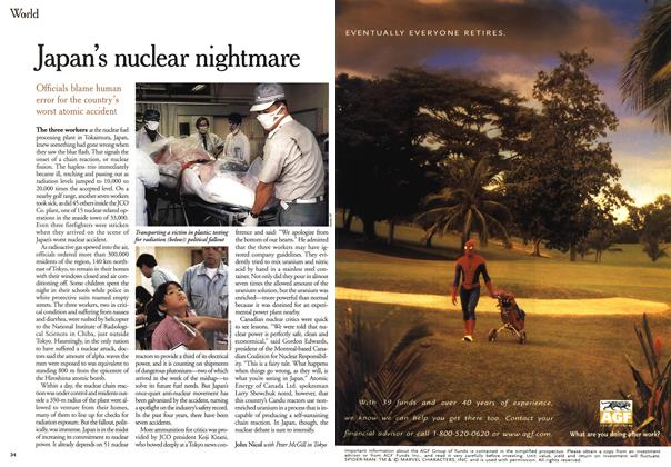 Article Preview: Japan's nuclear nightmare, October 1999 | Maclean's