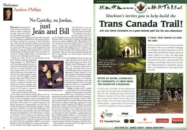 Article Preview: No Gretzky, no Jordan just Jean and Bill, October 1999 | Maclean's