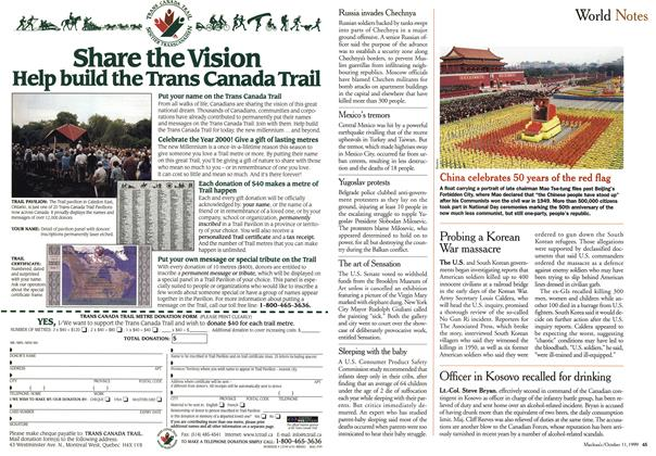 Article Preview: World Notes, October 1999 | Maclean's