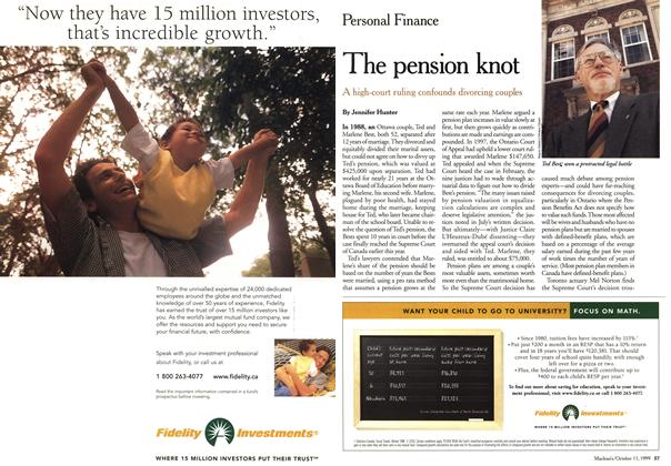 Article Preview: The pension knot, October 1999 | Maclean's