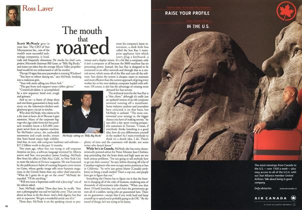 Article Preview: The mouth that roared, October 1999 | Maclean's