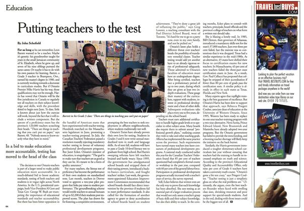 Article Preview: Putting teachers to the test, October 1999 | Maclean's