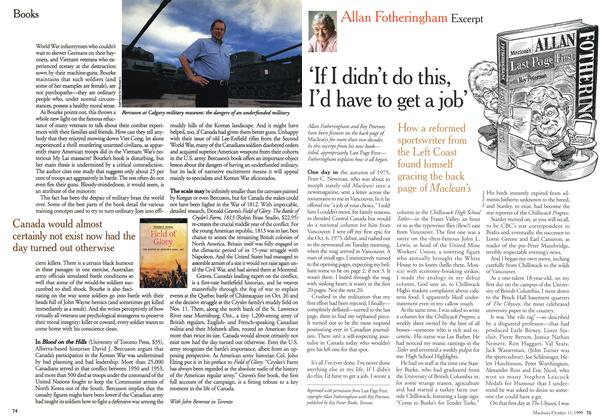 Article Preview: 'If I didn't do this, I'd have to get a job', October 1999 | Maclean's
