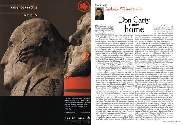 Article Preview: Don Carty comes home, October 1999 | Maclean's
