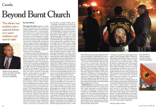 Article Preview: Beyond Burnt Church, October 1999 | Maclean's