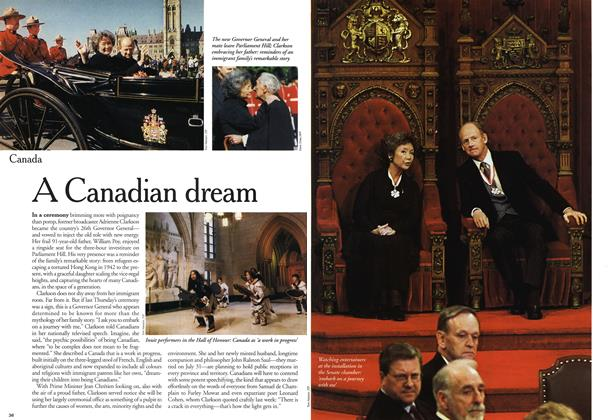 Article Preview: A Canadian dream, October 1999 | Maclean's