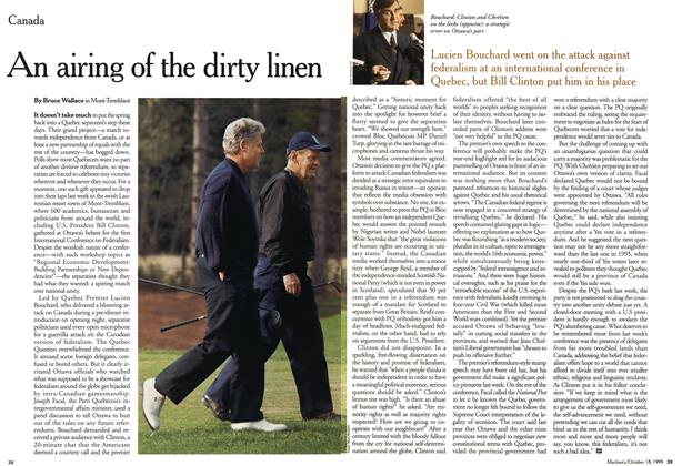 Article Preview: An airing of the dirty linen, October 1999 | Maclean's