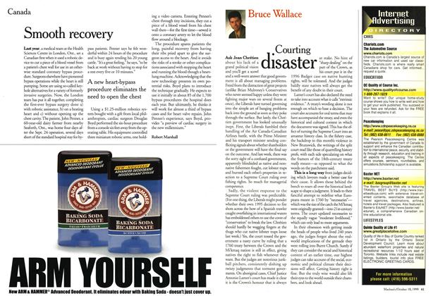 Article Preview: Smooth recovery, October 1999 | Maclean's