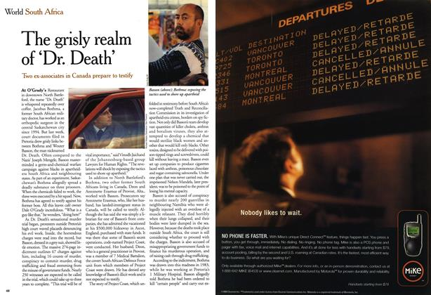 Article Preview: The grisly realm of 'Dr. Death', October 1999 | Maclean's