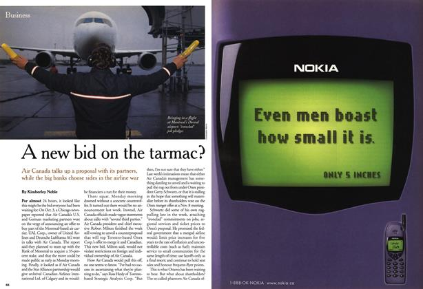 Article Preview: A new bid on the tarmac?, October 1999 | Maclean's