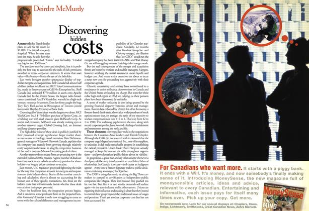 Article Preview: Discovering hidden costs, October 1999 | Maclean's