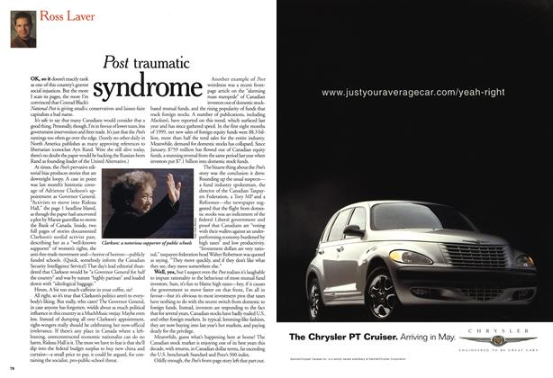 Article Preview: Post traumatic syndrome, October 1999 | Maclean's