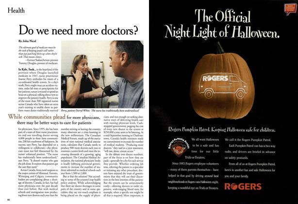 Article Preview: Do we need more doctors?, October 1999 | Maclean's