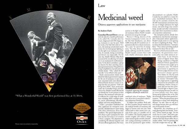 Article Preview: Medicinal weed, October 1999 | Maclean's