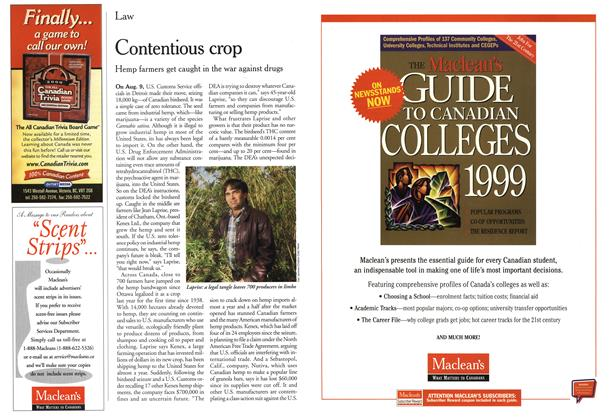 Article Preview: Contentious crop, October 1999 | Maclean's