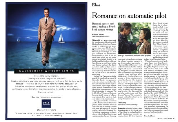Article Preview: Romance on automatic pilot, October 1999 | Maclean's
