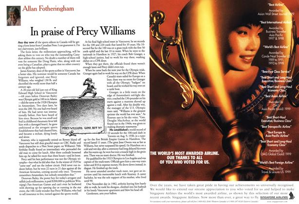 Article Preview: In praise of Percy Williams, October 1999 | Maclean's