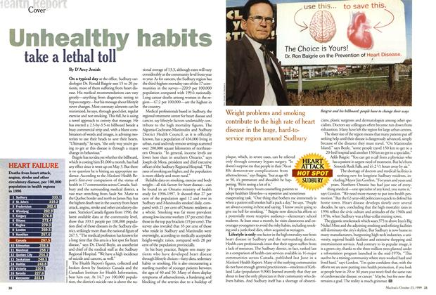 Article Preview: Unhealthy habits take a lethal toll, October 1999 | Maclean's
