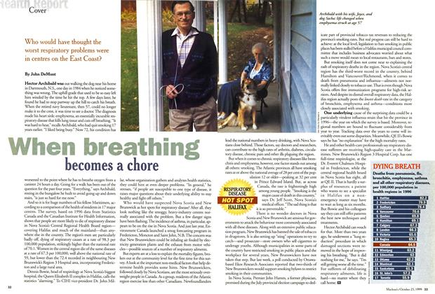 Article Preview: When breathing becomes a chore, October 1999 | Maclean's