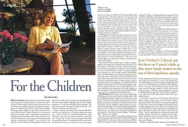 Article Preview: For the Children, October 1999 | Maclean's