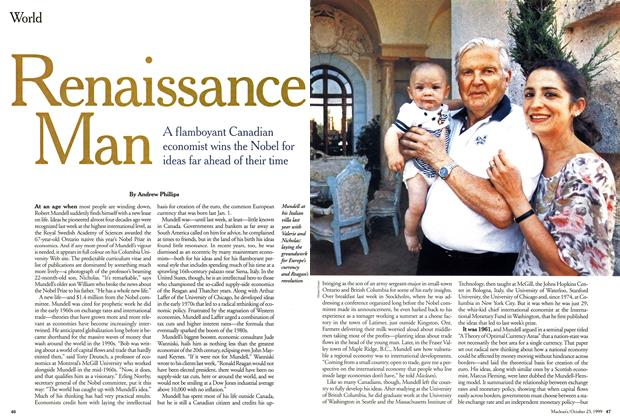 Article Preview: Renaissance Man, October 1999 | Maclean's
